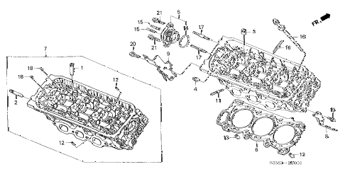 2003 CL SPORT 2 DOOR 6MT REAR CYLINDER HEAD diagram