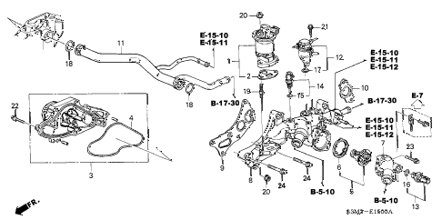 2003 CL SPORT 2 DOOR 6MT WATER PUMP - SENSOR diagram