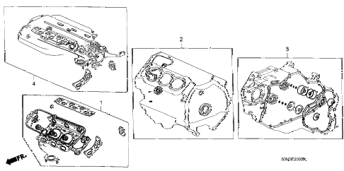 2001 CL SPORT 2 DOOR 5AT GASKET KIT diagram