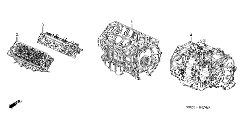 2002 CL PREM 2 DOOR 5AT ENGINE ASSY. - TRANSMISSION ASSY. diagram