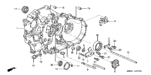 2003 CL SPORT 2 DOOR 6MT CLUTCH HOUSING diagram