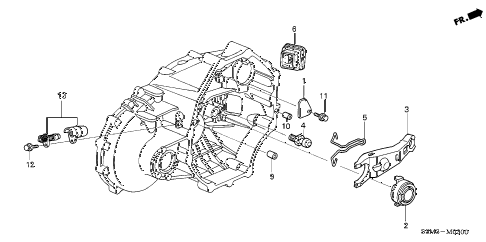 2003 CL SPORT 2 DOOR 6MT CLUTCH RELEASE diagram
