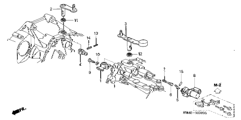 2003 CL SPORT 2 DOOR 6MT SHIFT LEVER diagram