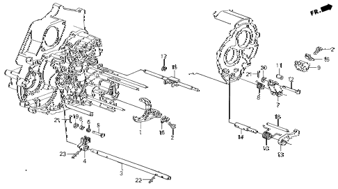 1988 INTEGRA LS 3 DOOR 4AT AT THROTTLE VALVE SHAFT diagram