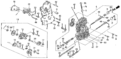 1989 INTEGRA LS 5 DOOR 4AT AT MAIN VALVE BODY (2) diagram