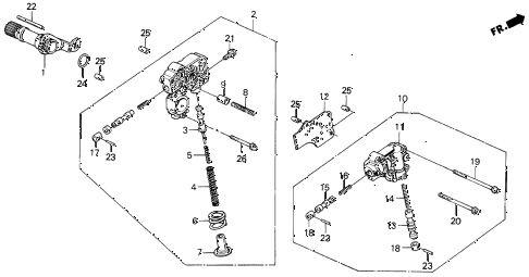 1988 INTEGRA RS 5 DOOR 4AT AT REGULATOR (2) diagram