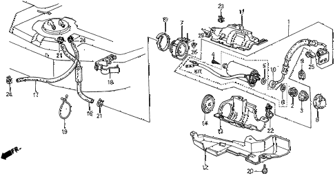 1989 INTEGRA LS 3 DOOR 4AT FUEL PUMP diagram