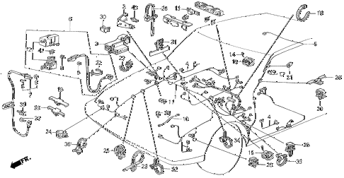 1987 INTEGRA RS 5 DOOR 5MT WIRE HARNESS (1) diagram