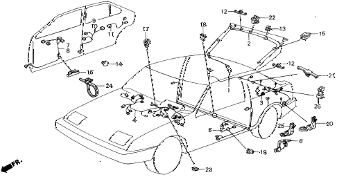 1988 INTEGRA LS 5 DOOR 5MT WIRE HARNESS (2) diagram