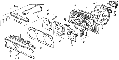 1988 INTEGRA RS 5 DOOR 4AT SPEEDOMETER COMPONENTS (2) diagram