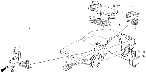 1988 INTEGRA LS 3 DOOR 5MT CONTROLLER diagram