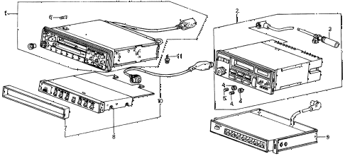 1987 INTEGRA LS 5 DOOR 5MT RADIO TUNER diagram