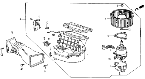 1987 INTEGRA LS 5 DOOR 5MT HEATER BLOWER diagram