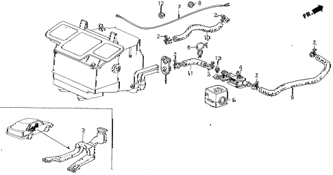1986 INTEGRA LS 5 DOOR 5MT WATER VALVE - DUCT diagram