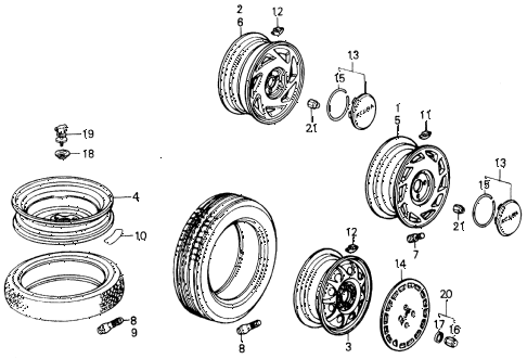 1987 INTEGRA RS 5 DOOR 5MT WHEELS diagram