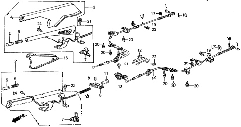 1987 INTEGRA RS 5 DOOR 5MT PARKING BRAKE diagram