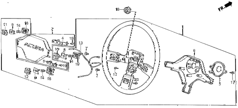 1986 INTEGRA RS 3 DOOR 5MT STEERING WHEEL (1) diagram