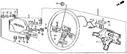 1987 INTEGRA LS 5 DOOR 5MT STEERING WHEEL (2) diagram