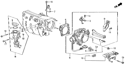 1986 INTEGRA LS 5 DOOR 5MT THROTTLE BODY (1) diagram