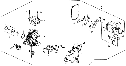 1989 INTEGRA LS 5 DOOR 5MT DISTRIBUTOR (2) diagram