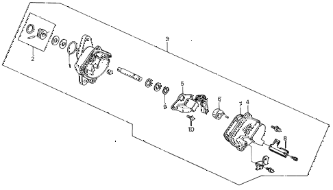 1989 INTEGRA LS 5 DOOR 4AT CYLINDER SENSOR (2) diagram