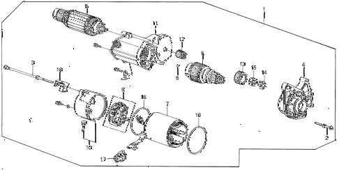 1987 INTEGRA RS 5 DOOR 5MT STARTER MOTOR (DENSO) diagram