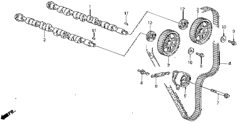 1988 INTEGRA LS 3 DOOR 4AT CAMSHAFT - TIMING BELT diagram