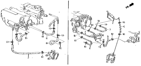 1987 INTEGRA RS 5 DOOR 5MT BREATHER HEATER HOSE diagram