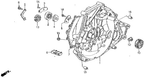 1989 INTEGRA RS 5 DOOR 5MT MT CLUTCH HOUSING diagram