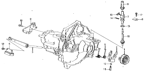 1987 INTEGRA LS 5 DOOR 5MT MT CLUTCH RELEASE diagram