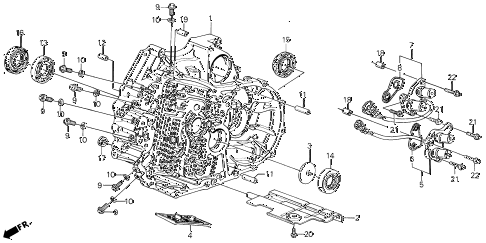 1989 LEGEND ST 4 DOOR 4AT AT TORQUE CONVERTER HOUSING (88-90) diagram