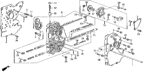 1989 LEGEND ST 4 DOOR 4AT AT MAIN VALVE BODY (88-90) diagram
