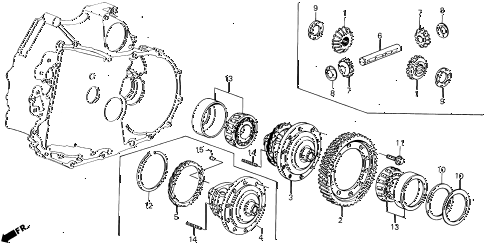 1989 LEGEND ST 4 DOOR 4AT AT DIFFERENTIAL GEAR diagram