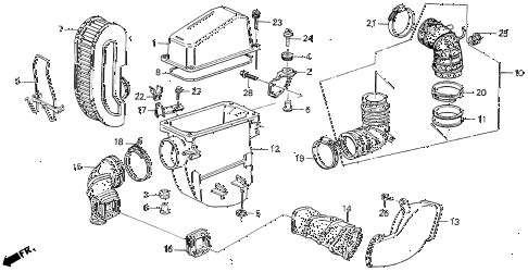 1989 LEGEND ST 4 DOOR 5MT AIR CLEANER diagram