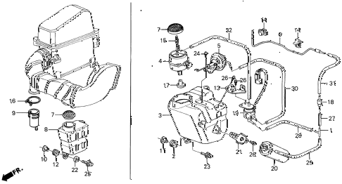 1988 LEGEND LS 4 DOOR 5MT RESONATOR CHAMBER diagram
