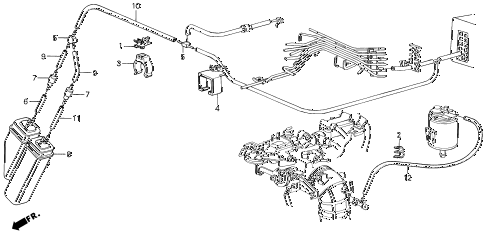 1989 LEGEND L 4 DOOR 5MT VACUUM TANK (88-90) diagram