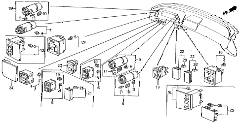 1987 LEGEND RS 4 DOOR 5MT SWITCH (1) diagram
