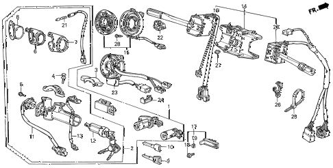 1990 LEGEND LS 4 DOOR 5MT SWITCH (2) diagram