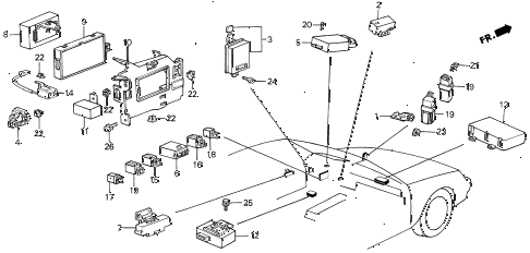 1989 LEGEND L 4 DOOR 5MT CONTROLLER (1) diagram