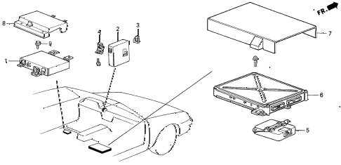 1987 LEGEND RS 4 DOOR 5MT CONTROLLER (2) diagram