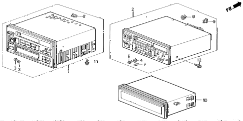 1987 LEGEND RS 4 DOOR 5MT RADIO TUNER diagram