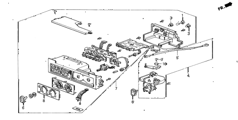 1987 LEGEND RS 4 DOOR 5MT HEATER CONTROL diagram