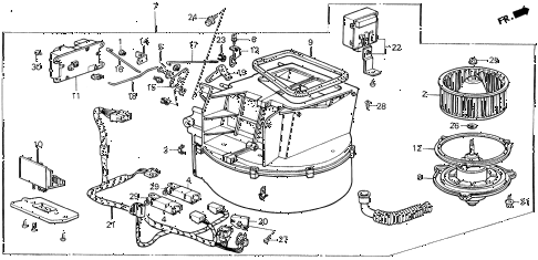 1989 LEGEND ST 4 DOOR 5MT HEATER BLOWER diagram