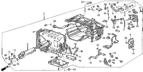 1986 LEGEND LX 4 DOOR 5MT HEATER UNIT diagram