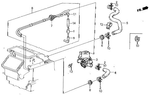 1987 LEGEND RS 4 DOOR 5MT WATER VALVE diagram