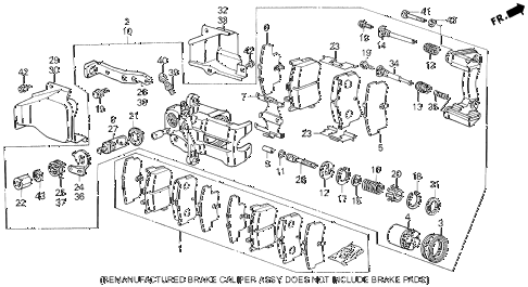 1988 LEGEND L 4 DOOR 5MT REAR BRAKE CALIPER (86-88) diagram