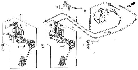 1990 LEGEND L 4 DOOR 5MT ACCELERATOR PEDAL diagram