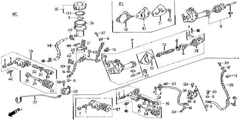 1988 LEGEND ST 4 DOOR 5MT CLUTCH MASTER CYLINDER diagram