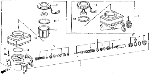 1986 LEGEND LX 4 DOOR 5MT BRAKE MASTER CYLINDER (NON ALB) diagram
