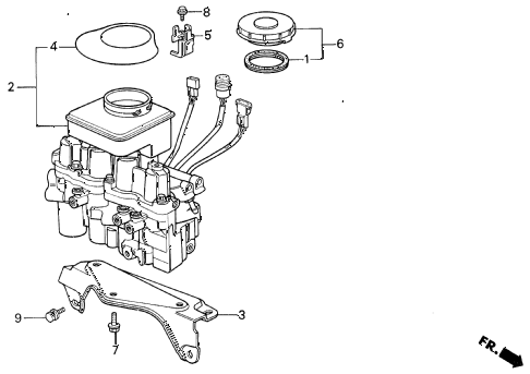 1988 LEGEND L 4 DOOR 5MT MODULATOR (A.L.B.) diagram